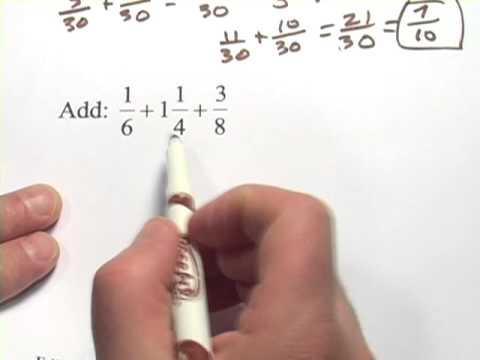 Adding Three Fractions
