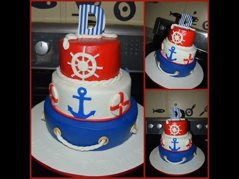 Nautical themed Cake ⛵ pastel náutico 🎂