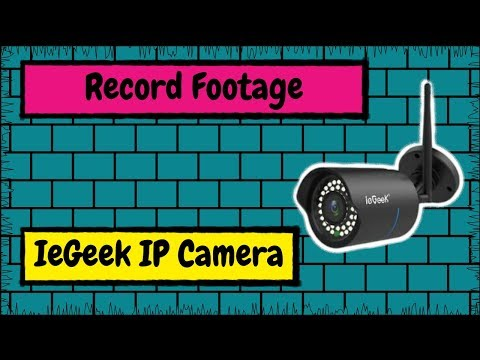 How to Record Footage from Your IeGeek IP Camera to Your Computer's Hard Drive with HiP2P Client