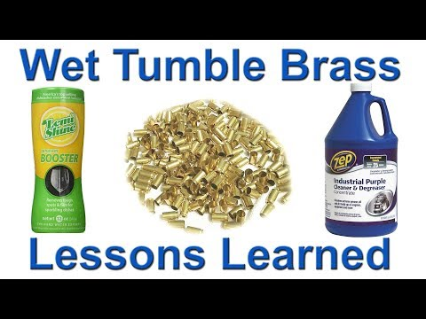 Problems wet tumbling? Brass is dingy gray, or tarnished reddish hue?  Here are my lessons learned.