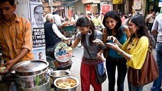 Sweet College Girls Eating Gol gappa Paani Puri in Street Road