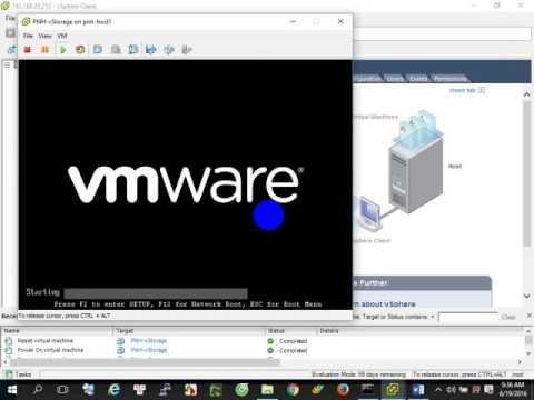 P1 Install ESXi OSvCenter Storage