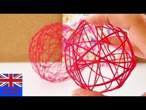 MAKE YOUR OWN STRING BALL USING A BALLOON! Decorate your room for spring!