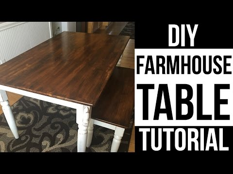 DIY FARMHOUSE TABLE |  HOW TO REFINISH DINING TABLE| Page Danielle