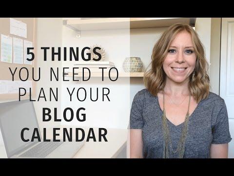 Create an Editorial Calendar for Bloggers
