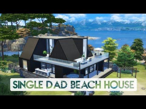 Sims 4 | House Building | Single Dad Beach House