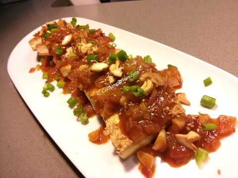 Pan Fried Spicy Tofu | Korean Inspired Braised Tofu | Tofu in Spicy Stir Fry Sauce