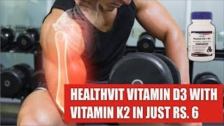 Healthvit Vitamin D3 with K2 Supplement Review