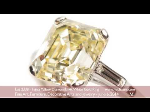 Fancy Yellow Diamond, 14k White Gold Ring