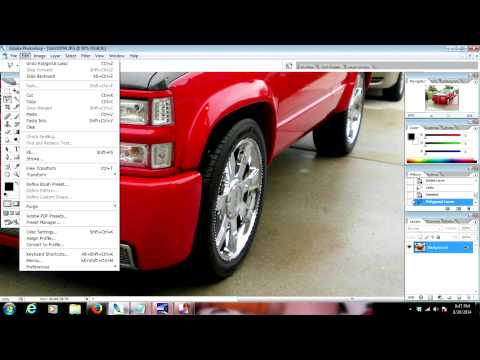 Adobe Photoshop Tutorial : How To Crop images CS2