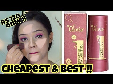 Best and Cheapest Foundation in India || Olivia Pan stick Review and Demo || Sayantani Some