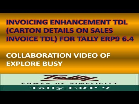 Invoicing Enhancement TDL File - Free Tdl For Tally Erp9 6.4