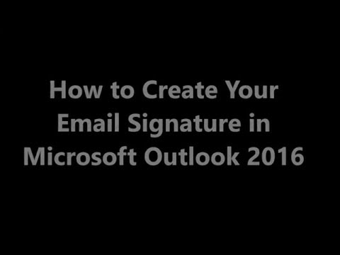 How to create Email Signature in Microsoft Outlook 2016