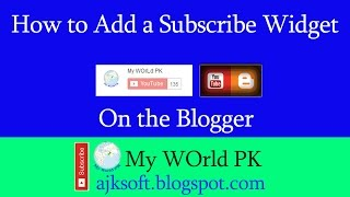 How to Add YouTube Subscribe Button on your Blog Videos