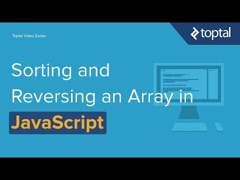 JavaScript Video Tutorial - Sorting and Reverse Sorting an Array
