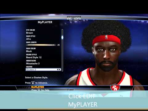 How to Edit Your MyPlayer in NBA 2K14 (For PC)