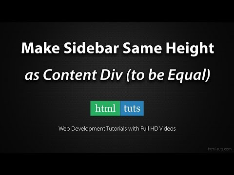 Make Sidebar Same Height as Content (jQuery or CSS)