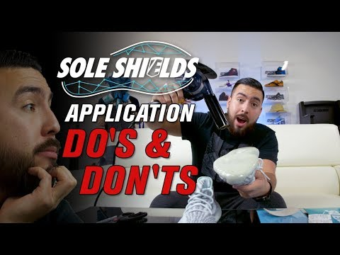 The Do's and Don't to applying Sole Shields on Yeezys