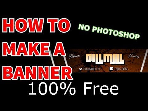 How To Make An AWESOME YouTube Banner 100% Free and simple! - Gimp 2.0 Tutorial