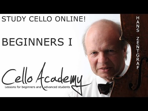 Cello Lessons Online   Beginners I : The cello, bow grip, right arm motion, playing open strings