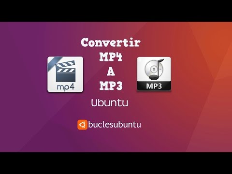 Convertir videos mp4 a  mp3  en Ubuntu