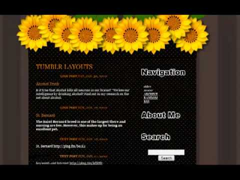 Sunflower Tumblr Layouts