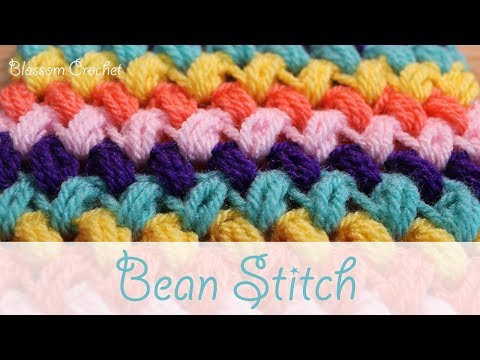 Super easy crochet: Zig-Zag Bean Stitch / Puff Stitch
