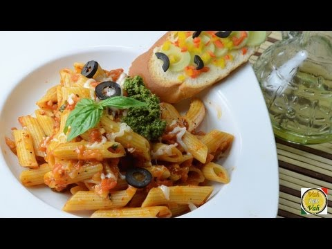 Pasta With Simple Tomato Sauce Recipe  - By Vahchef @ vahrehvah.com