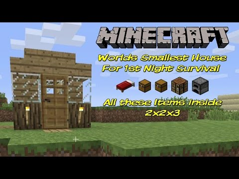 Worlds Smallest Minecraft House Great For 1st Day Survival | Tutorial