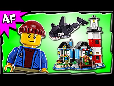 Lego Creator LIGHTHOUSE POINT 31051 Stop Motion Build Review