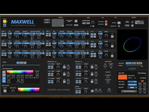 Maxwell: Laser Synth & Abstract Generator