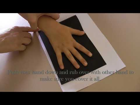 How to take a handprint in Ink