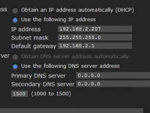 Setting IP Addresses on IP Cameras