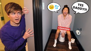 "making ""DIRTY"" noises with the DOOR LOCKED prank on my boyfriend.. *BAD IDEA*"