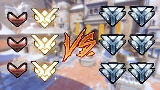 3 GRANDMASTERS (TOP 500) AND 3 BRONZE PLAYERS VS 6 DIAMONDS - Overwatch