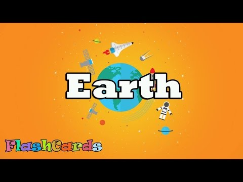 [Flashcards for kids - Earth] Kids learn /study English  Earth || Free Printable Flash Cards