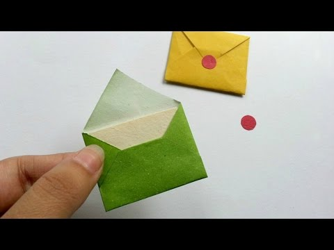 How To Create Cute Miniature Envelopes - DIY Crafts Tutorial - Guidecentral