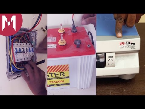 How to - Connect an Inverter at your home with Battery Backup