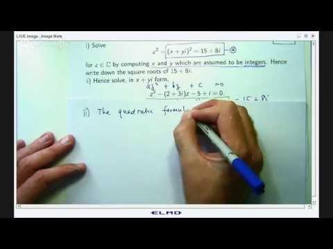 Quadratic equations with complex coefficients