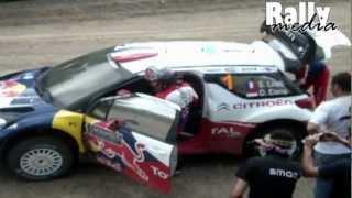 Loeb and Elena very fast tire change! WRC Acropolis Rally 2012 [Fanvideo]