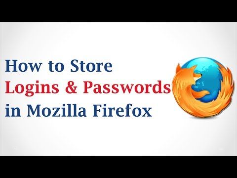 How to Store Logins and Passwords in Mozilla Firefox