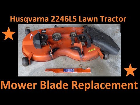 Husqvarna Riding Tractor (2246LS) Mower Blade Replacement (532-405380)