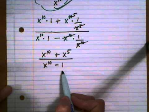 Simplify complex fraction - 3