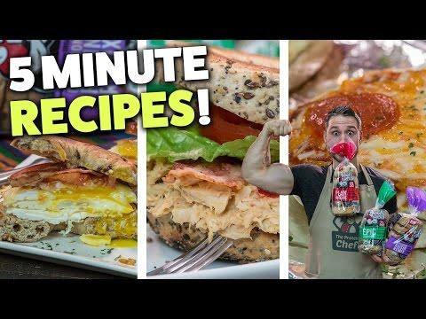 3 Quick & Easy BREAKFAST BAGEL Recipes