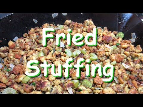 FRIED STUFFING Dressing Recipe ~ Easy Thanksgiving Stuffing
