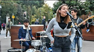 CROWDS STOP FOR AMAZING PERFORMERS ON DUBLIN STREET | Beyonce-Halo | Allie Sherlock & The3Busketeers