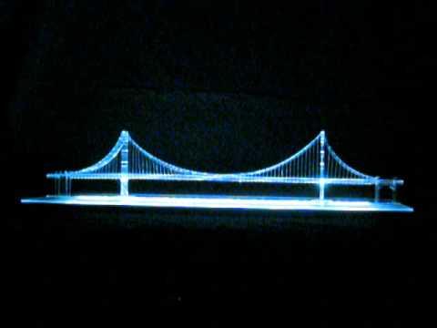 NightLife 2012 - Golden Gate Bridge Model - Color Change 2