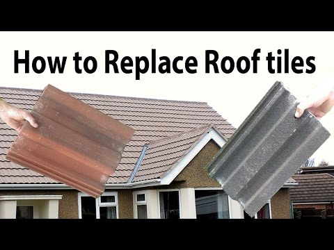 How to Replace broken common Interlocking Roof Tiles