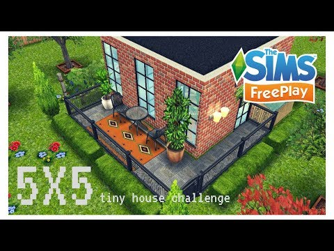 SIMS FREEPLAY - SPEED BUILD [ 5 x 5 Tiny House Challenge ] 2017