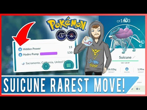 SUICUNE RAREST MOVE! Hidden Power Water Type On My First Suicune Caught! Plus 96% Porygon Wild Catch